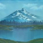Mein erster Versuch - See mit Bergen im Hintergrund