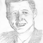 Erste Portrait Zeichnung JFK