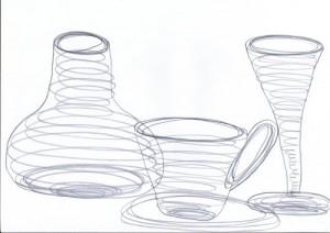 Mit Ellipsen einfaches Geschirr zeichnen