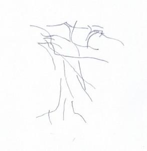 Handfläche - Blindes Konturenzeichnen