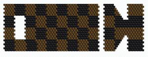 Peyote Armband mit Schachbrett-Muster - Vorlage