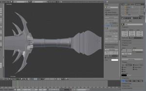 3D Schwert Griff und Verzierung