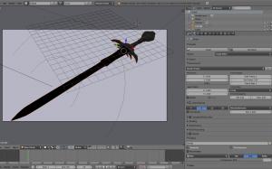 3D Schwert - Blender - Teil 2 Mesh