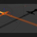 3D Schwert - Blender - Teil2 Positionierung