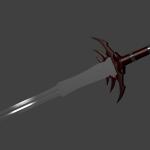 Render des 3D Schwertes - Blender mit Materialien