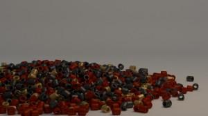 Perlenbild aus dem Blender Video Tutorial