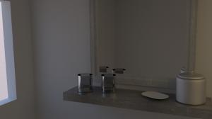 3D Badezimmer - 1. Test Render
