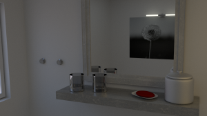 3D Badezimmer - 3. Test Render