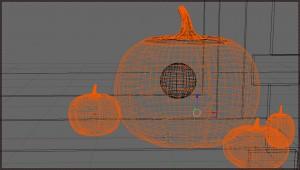 Blender 3D - Halloween Kürbis im Wireframe