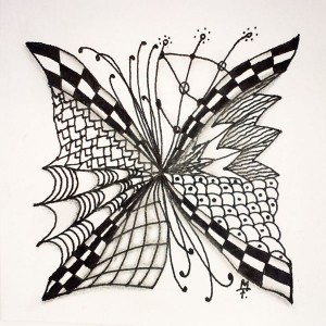 Zentangle / Zendoodle in s/w