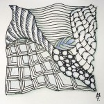 Zentangle / Zendoodle in bunt