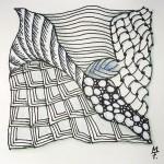 Zentangle / Zendoodle in bunt
