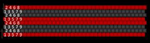 08 Muster mit Reihen