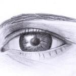gezeichnetes Auge