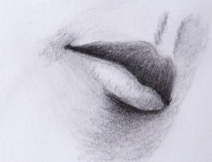 gezeichneter Mund