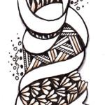 Doodle Lesezeichen / Bookmark braun