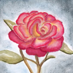 Aquarell Rose