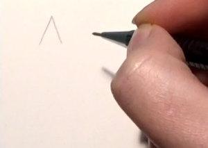 Pentagramm Schritt 1