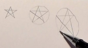 Pentagramm Hilfslinien