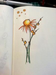 Skizzenbuch Blume stilisiert