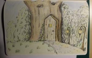 Skizze: Geheime Türen - Fantasiewelten
