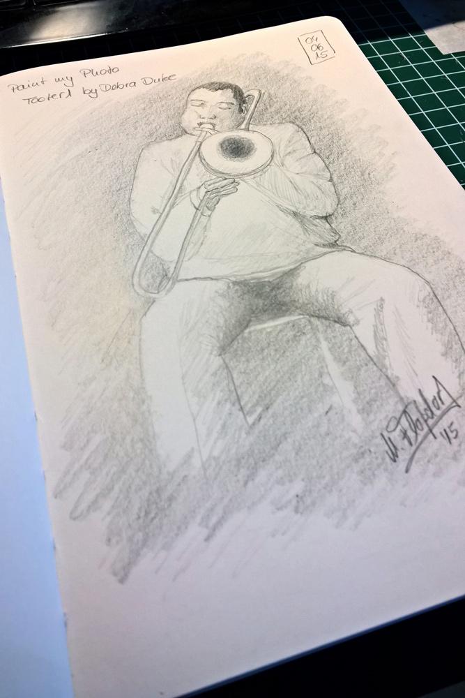 Sketch - Trompeten Spieler