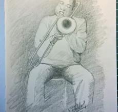 Sketch – Trompeten Spieler