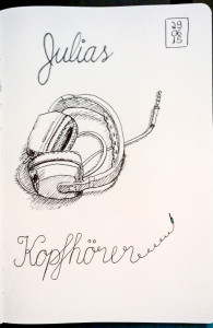 Skizze Kopfhörer