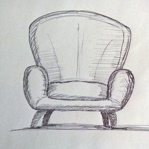Sessel skizze  5 Minuten Skizzen | blog.Tinas-Welt.de