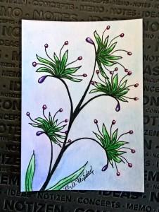 Kakao Karte - Fantasie Blume