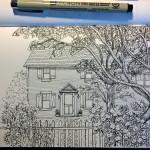Blumen Haus Skizze