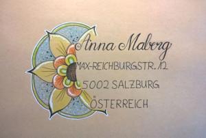 Briefumschlag Blume