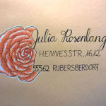 Briefumschlag Rose