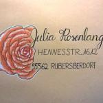 Briefumschlag Rose