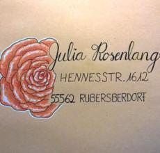Briefumschläge mit Blumen verziert