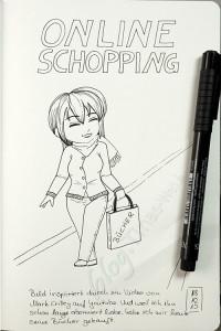 Inktober: Chibi - Online Shopping