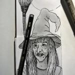 Inktober: Tusche Hexe