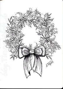 Weihnachtskranz-Skizze