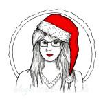 Skizze einer Weihnachtsfrau