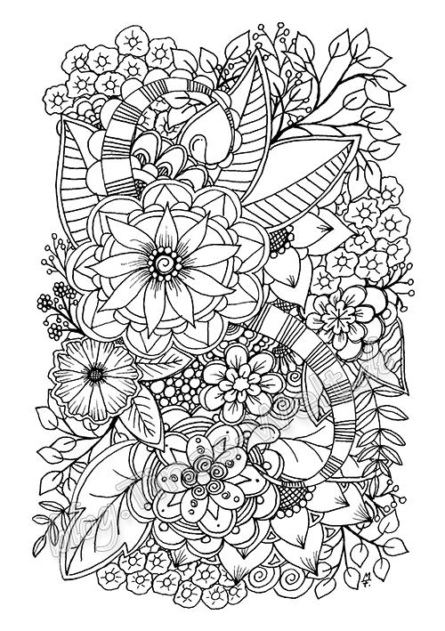 Tolle Blumen Doodle Kunst Malvorlagen Zum Ausdrucken Ideen ...