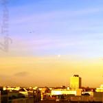 Sonnenaufgang über den Dächern von Köln