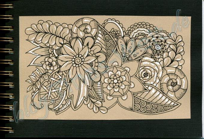 Blumen Muster Detail für Skizzenbuch