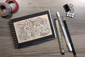 Blumen Tangle für Skizzenbuch