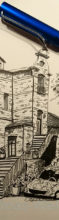 Skizze – Altes Backsteinhaus