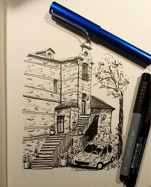 Skizze Altes Haus