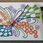 Zendoodle - Bunte Musterzeichnung