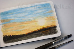 Sonnenuntergang - Moleskine Skizzenbuch