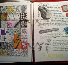 April Kalender und Journal