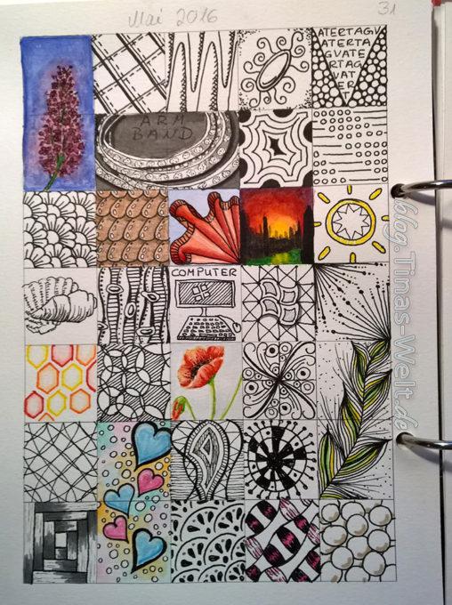 Kalender Doodles Mai