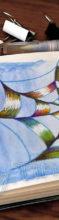 """Spinnennetz Doodle mit mehrfarbigem Stift """"Magic"""""""